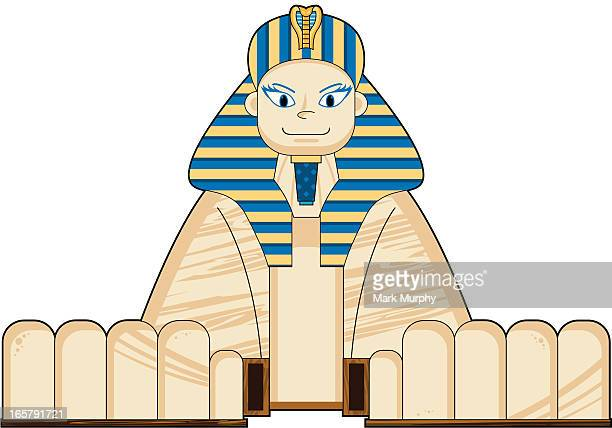 great egyptian sphinx - the sphinx stock illustrations, clip art, cartoons, & icons