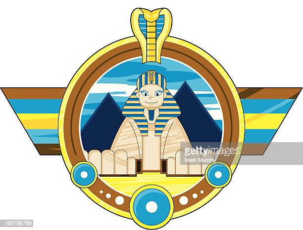 great sphinx badge - the sphinx stock illustrations, clip art, cartoons, & icons