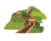 Greatwall vector icon