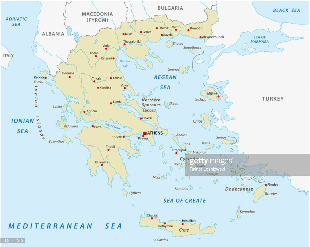 greece abstract vector map