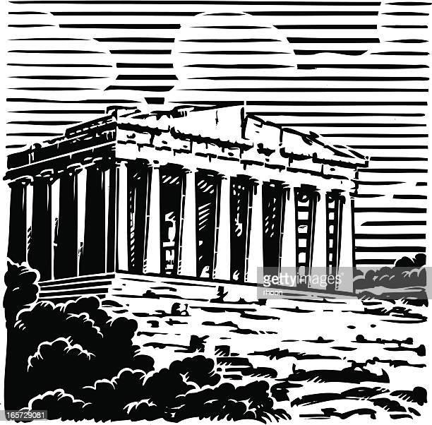 ilustrações, clipart, desenhos animados e ícones de a grécia, atenas, a acrópole, - filósofo