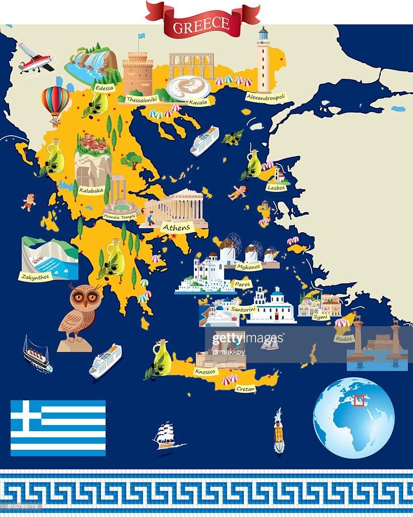 Greece Cartoon map