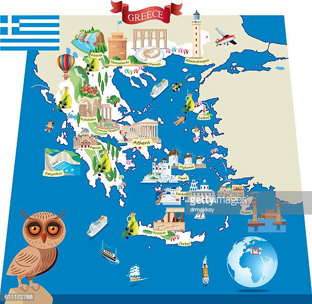 Greece Cartoon map1-A