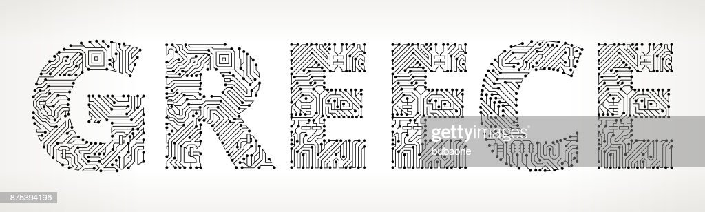 Greece Circuit Board Vector Buttons Vector Art | Getty Images