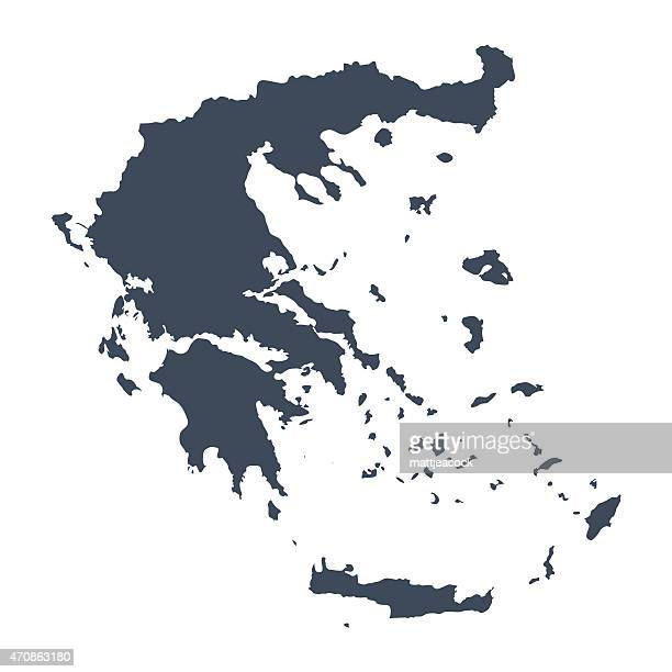 greece country map - greece stock illustrations