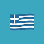 Greece flag icon in flat design
