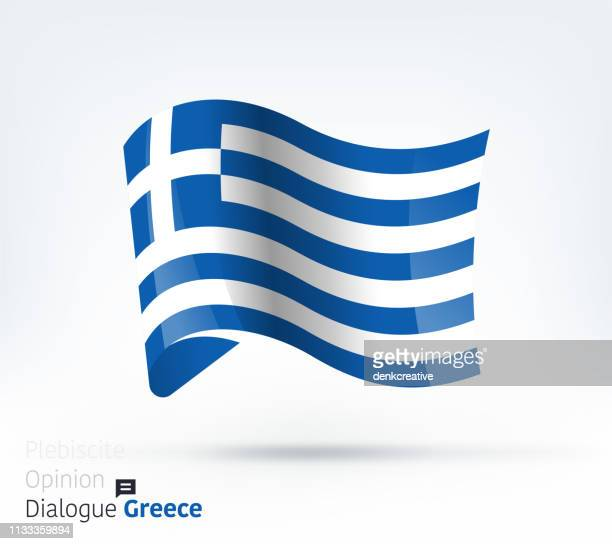 illustrazioni stock, clip art, cartoni animati e icone di tendenza di greece flag international dialogue & conflict management - grecia stato