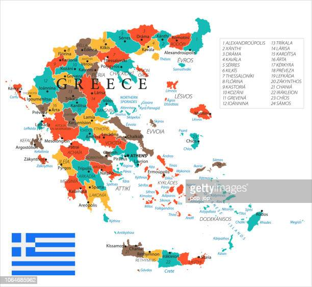 15 - greece - green isolated 10 - greek islands stock illustrations, clip art, cartoons, & icons