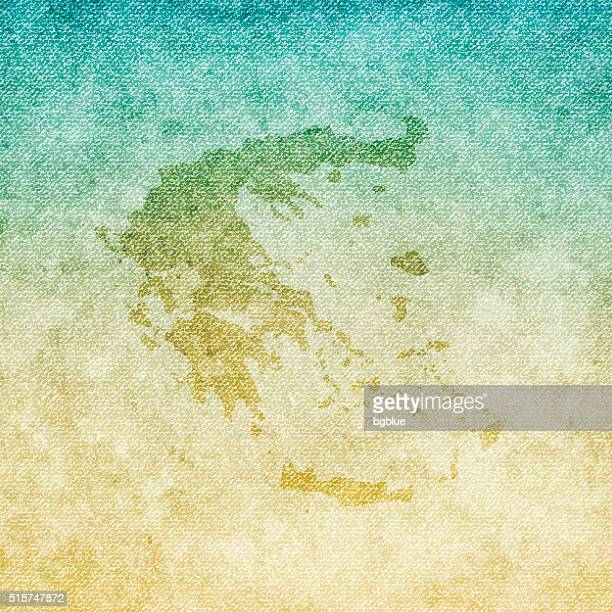 greece map on grunge canvas background - athens georgia stock illustrations, clip art, cartoons, & icons