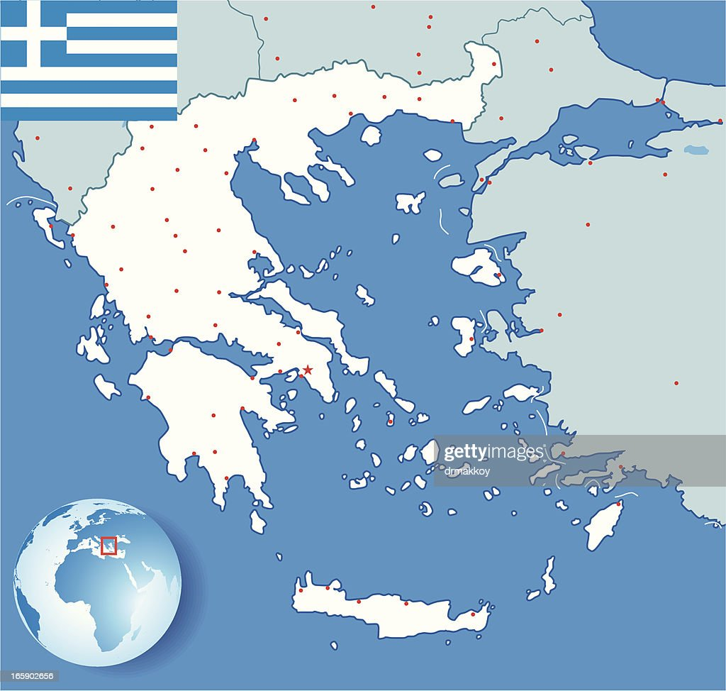 Greece Map Vector Art | Getty Images