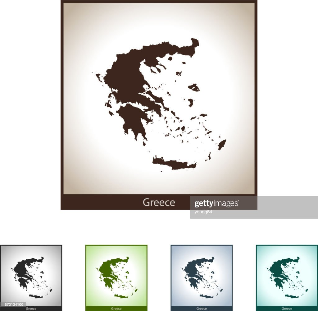 Greece Map Vector Art   Getty Images