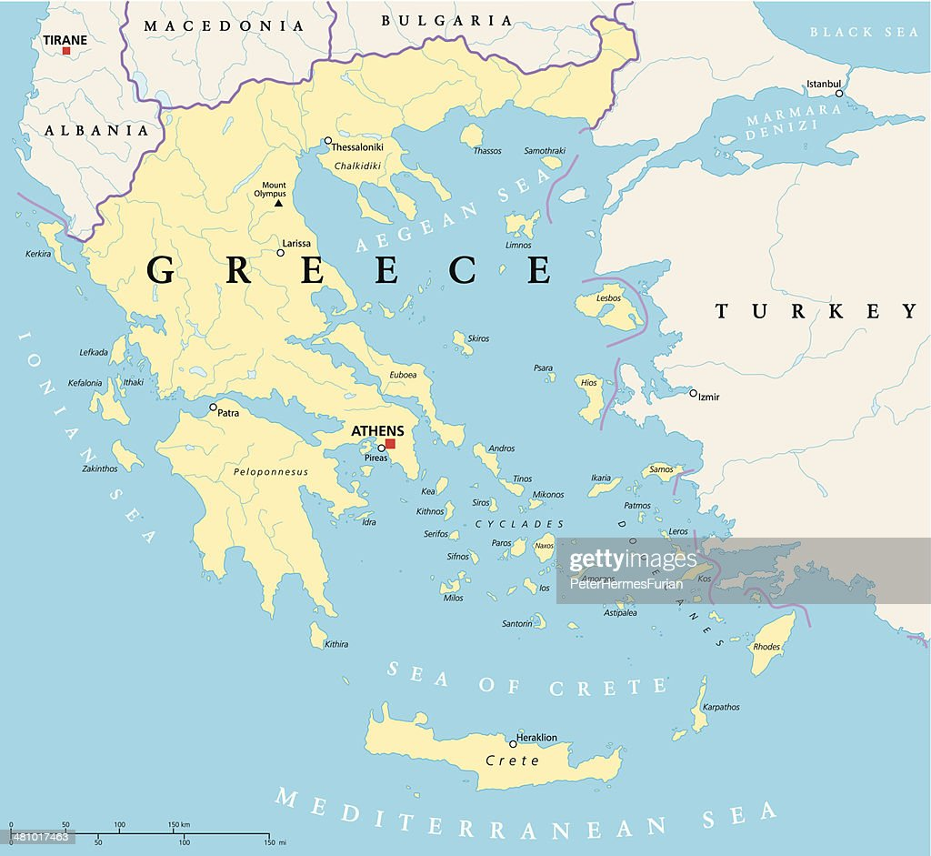 Greece Political Map
