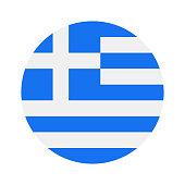 Greece - Round Flag Vector Flat Icon