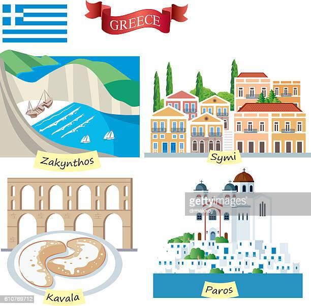 ilustrações, clipart, desenhos animados e ícones de greece symbols - partenão acrópole