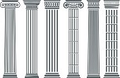 Greek and Roman columns set