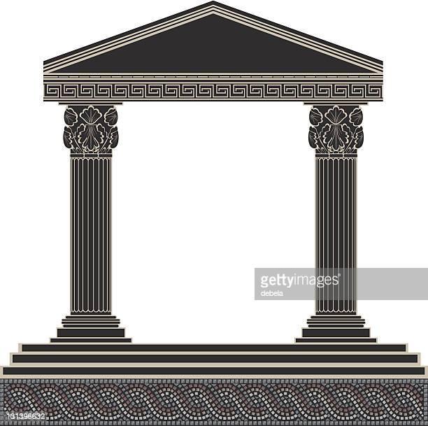 greek arc - corinthian stock illustrations, clip art, cartoons, & icons