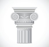 Greek Column isolated on white background. Vector