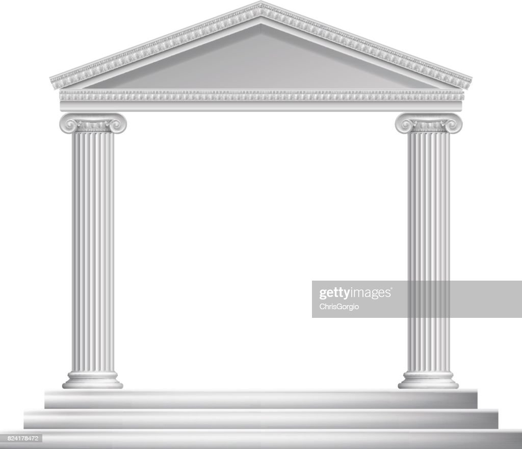 Greek Column Temple