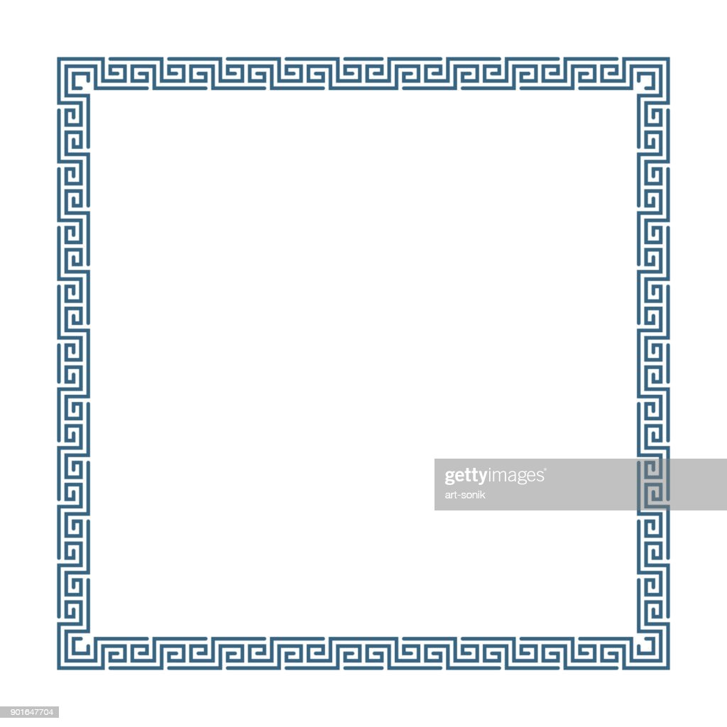 Greek decorative frame.