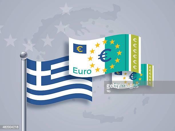 greek euro crisis - european union euro note stock illustrations, clip art, cartoons, & icons