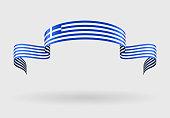 Greek flag background. Vector illustration.