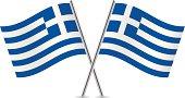 Greek Flags. Vector.