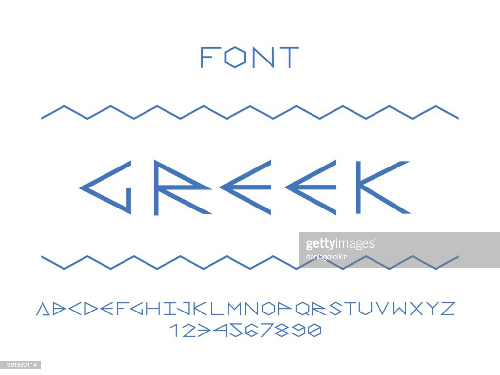 Greek font. Vector alphabet letters