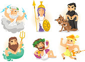 Greek Gods Athenas Zeus Hades Poseidon Hermes Bacchus Dionysus Cerberus