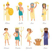 Greek gods. Flat