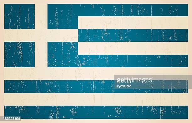 Greek grunge vintage flag