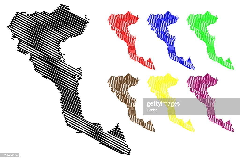 Greek Island Corfu map vector,