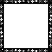 Greek key border frame. Typical egyptian, assyrian and greek motives.