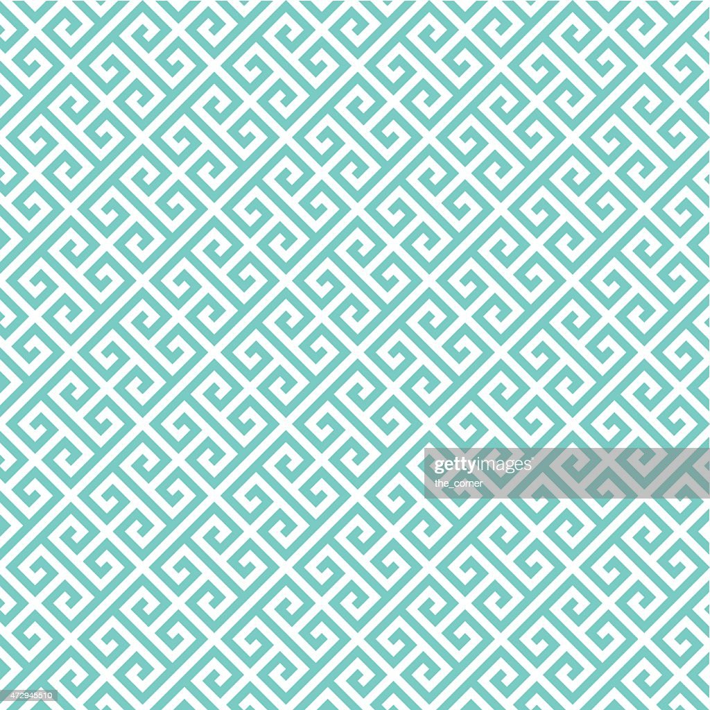Greek key pattern background. Vintage vector pattern.