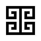 Greek key. Typical egyptian, assyrian and greek motives vector symbol.