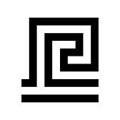 Greek key. Typical egyptian, assyrian and greek motives vector symbol