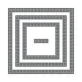 Greek meander frames, vector