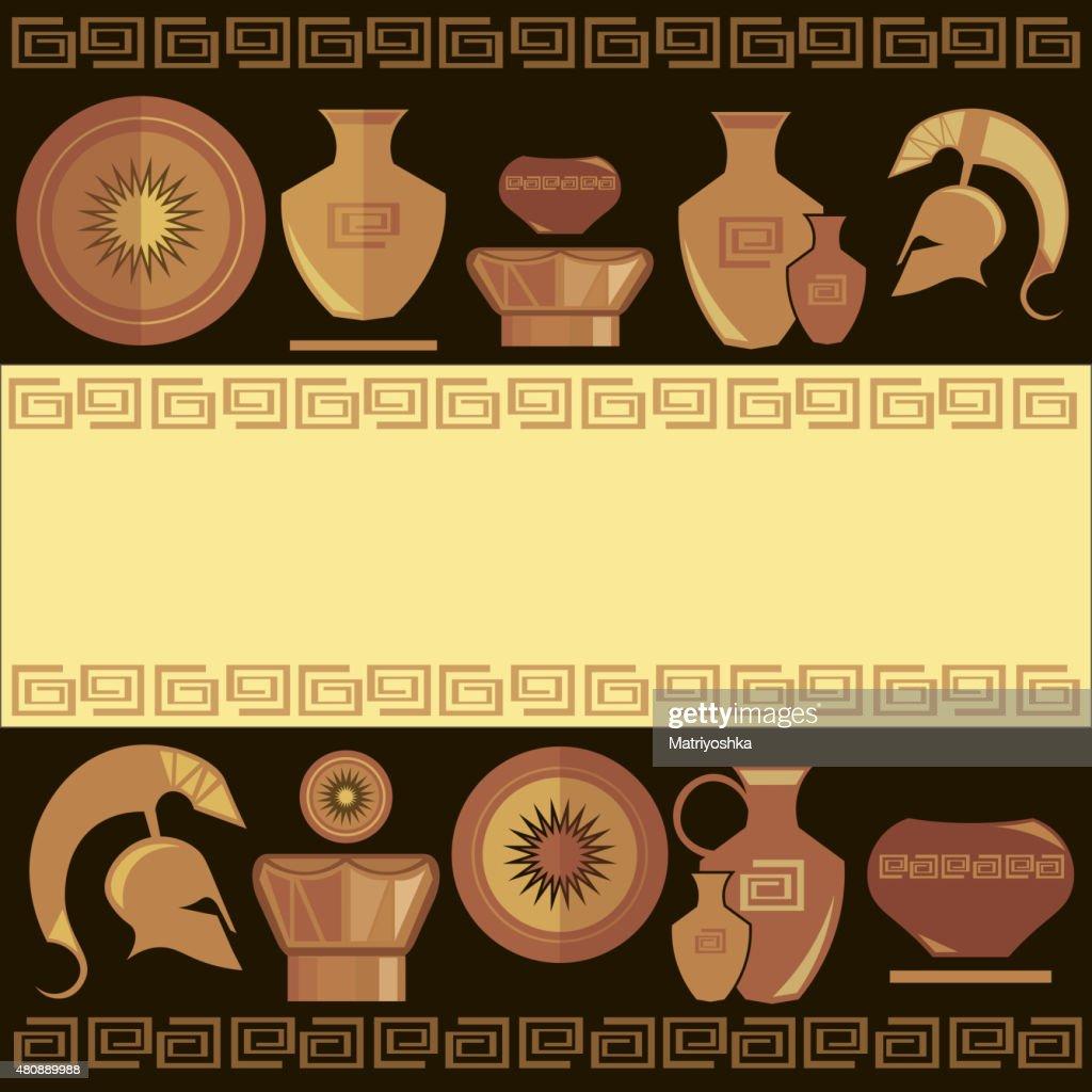 Greek ornament, painted vases
