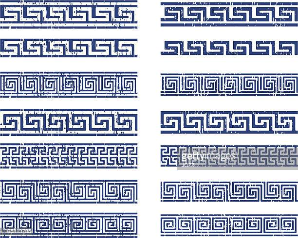 greek ornament - classical greek style stock illustrations
