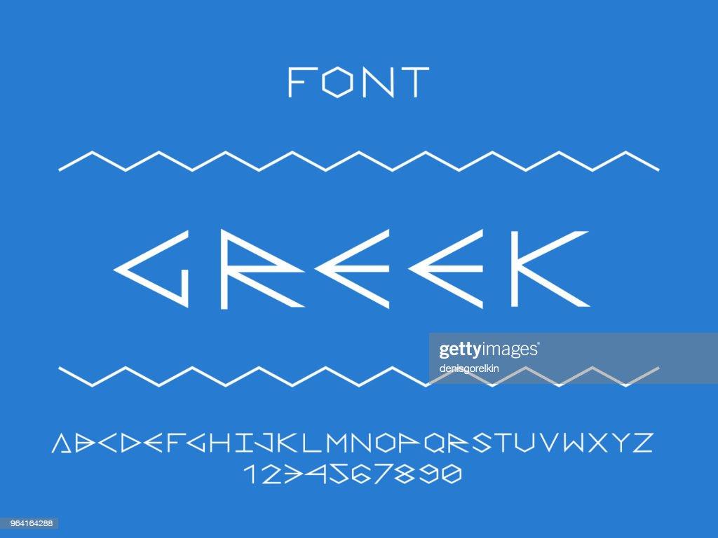 Greek regular font. Vector alphabet