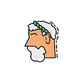 Greek, roman, beard, god icon. Element of history color icon for mobile concept and web apps. Color Greek, roman, beard, god icon can be used for web and mobile