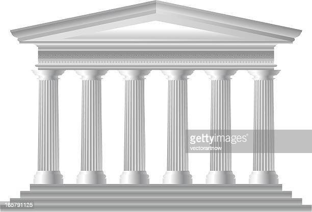 greek temple - corinthian stock illustrations, clip art, cartoons, & icons