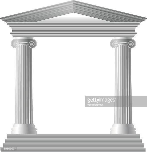 griechischer tempel - griechenland stock-grafiken, -clipart, -cartoons und -symbole