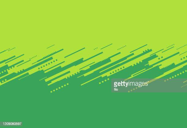 green abstract border - at the edge of stock illustrations