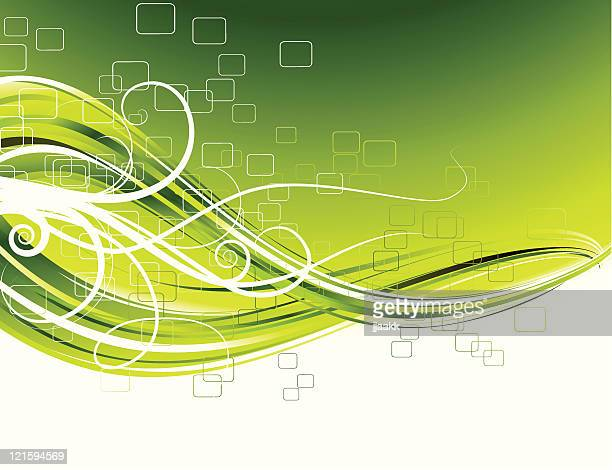 green abstract  floral pattern - branch plant part stock illustrations, clip art, cartoons, & icons