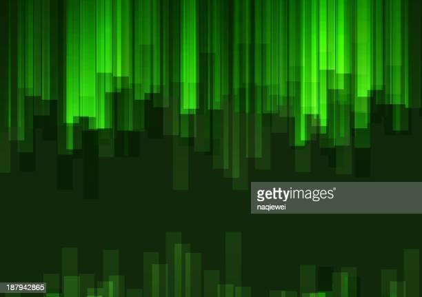Fundo de tecnologia abstrato verde