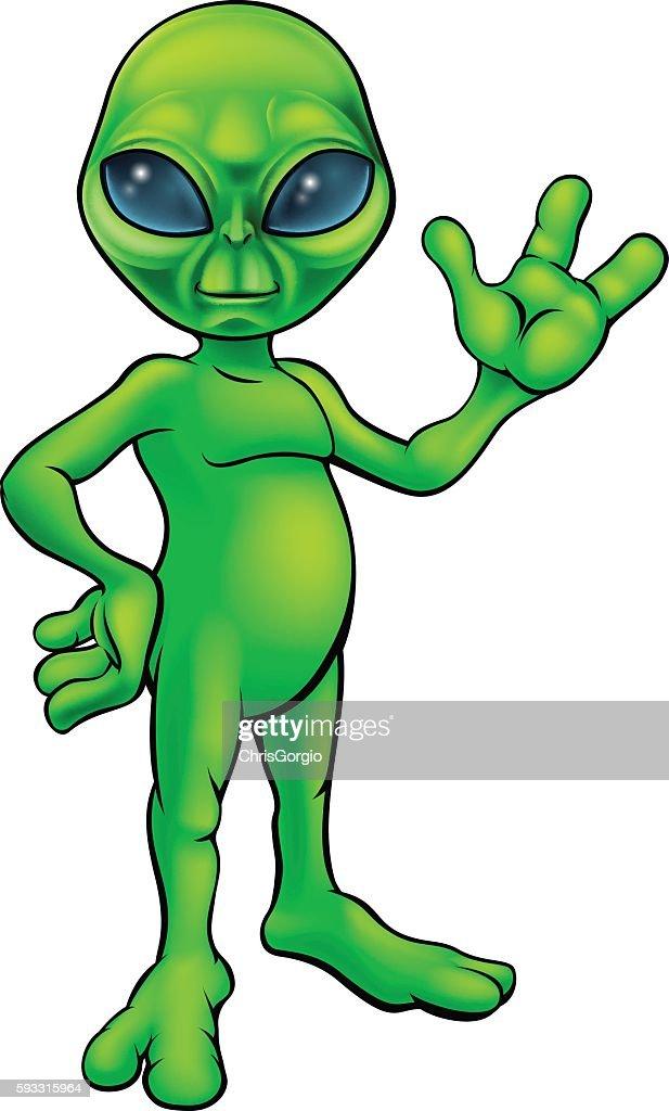 Green Alien Cartoon