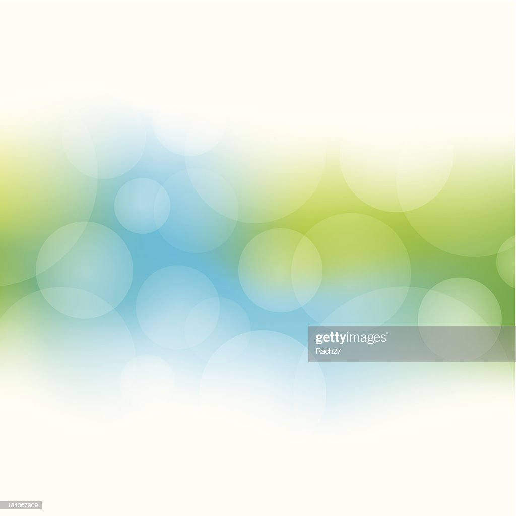 Green and blue abstract bokeh background