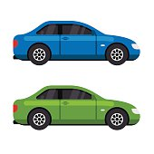Green and blue car icon