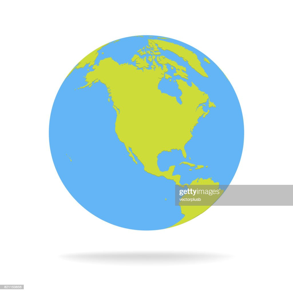 Green and blue cartoon world map globe vector illustration stock green and blue cartoon world map globe vector illustration gumiabroncs Gallery