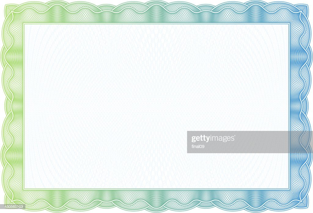 Green and blue faded border with nothing inside